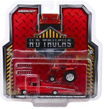1:64 GreenLight *HD TRUCKS* Red 1969 Ford F350 Ramp Truck & Red 5610 Tractor NIP