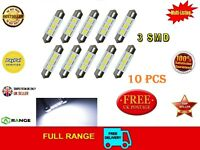 10 LED Festoon bulb Canbus 36mm 3 SMD 12V C5W 239 dome Error Free ****UK Seller