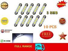 10 LED Festoon Bombilla Canbus 36 mm 3 SMD 12 V C5W 239 Dome errores *** vendedor del Reino Unido