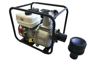 7HP 3600 RPM 16000 GPH 3'' INLET OUTLET TRASH WATER GAS PUMP EPA 4 STROKE GASOLI