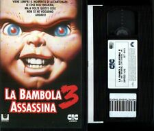 VHS LA BAMBOLA ASSASSINA 3 Con Box Orig. (CIC VIDEO) horror (Ex Noleggio) no dvd