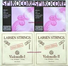 Cello Strings 4/4 Set Larsen Solo A+D, Spirocore Tungsten G+C