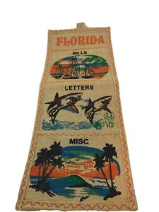 "Funky Decorative Tiki Fun Vintage Florida Mail Note Organizer 21"" Long Retro"