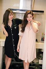 Pure Color Cotton Women Nightdresses Sleepshirt Sleepwear Nightshirt M-2XL