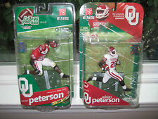 MCFARLANE NCAA 1 & 3 ADRIAN PETERSON COLLECTOR LEVEL CHASE VARIANT #574/750 LOT