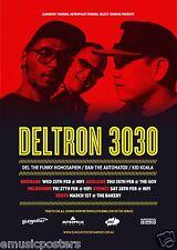 DELTRON 3030/DEL THE FUNKY HOMOSAPIEN 2015 AUSTRALIAN CONCERT TOUR POSTER-HipHop