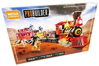 AWESOME Mega Construx PROBUILDER Train Heist Toy Set Buildable - BRAND NEW!!!