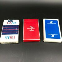 Vintage United Airlines USAir Playing Cards 3 Decks Unused Complete Games Poker
