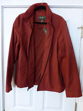 NWT EDDIE BAUER MENS  JACKET LARGE RUSTY  RED COLOR