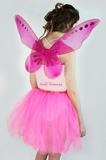 Ladies Sparkle Pixie Fairy Nymph Fancy Dress Up Costume Wings Hen Party NYE