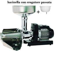 Passapomodoro elettrico Palumbo Pavi SM 5 INOX macchina pomodoro+bacinella eroga