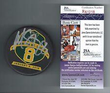 Martin St. Louis Signed Vermont Catamounts Retirement Puck JSA COA R61218