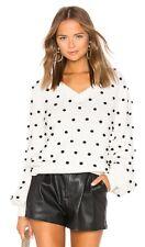Revolve Reg.$158 Polka Dot Sweater in Ivory & Black MAJORELLE XL