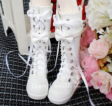 White Mimi Collection MSD Doc 1/3 BJD Obitsu Doll  Shoes Middle Tube BOOTS