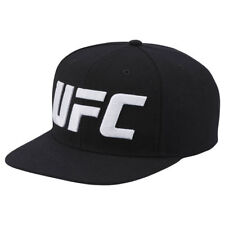 52888943da1 Reebok UFC Ultimate Fan Flat Brim Black Snapback Hat New