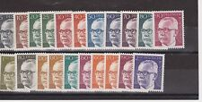 DEUTSCHE BUNDESPOST GERMANY MNH SET OF 21 STAMPS HEINEMANN 1970-73 SG 1535-1555
