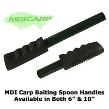 "MDI Carp Green Baiting Spoon Handles with Rubber Grip both 6""(15cm) & 10""(25cm)"