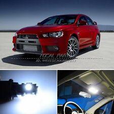8 x Xenon White LED Lights Interior Package Kit For Mitsubishi Lancer Evo X K175