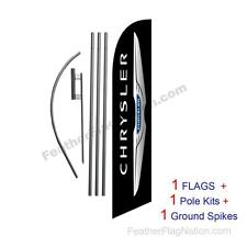 Custom Chrysler 15' Feather Banner Swooper Flag Kit with pole+spike