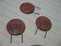82pF 10/% 160 V Polystyrène Condensateurs Qté 2