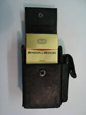 Leather Cigarette Case with Space for Lighter with Belt Loop Black