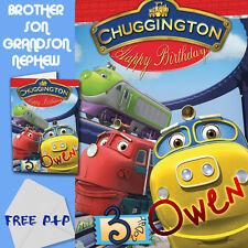 CHUGGINGTON - PERSONALISED Birthday Card Son Brother Nephew Grandson