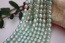 8 Strange 8-9mm Zuchtperlen Süßwasser Perlen Schmuck Kette Halskette barock