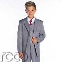 Boys Grey Wedding Suit, Grey Page Boy Suit, Boys Grey Suits, Boys Formal Suits