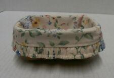 New ListingLongaberger 2002 Business Card Basket with Spring Floral Liner