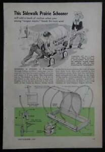 Covered Wagon Praire Schooner converted Flyer 1958 HowTo build PLANS