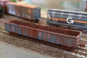 N,Exactrail,OSM,2743 thrall gondola weathered w/ rust,dented # cw 5080