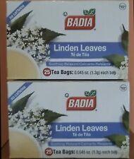 Pack of 2 Badia Linden Leaves Soothing, Relaxant (50 Bags In Total) Te de Tilo.