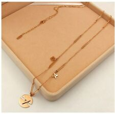 "32"" 18K Rose Gold Plated V Daisy Flower Pendant Long Necklace Sweater Chain PE3"