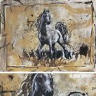 """40W""""x30H"""" ALCIPPE by MARTA WILEY - STALLION PONY HORSE GALLOP CANVAS"""