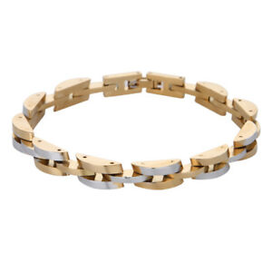 Mens Women Gold Silver Stainless Steel Bracelet Bangle Wridtband Cuff Chain Link