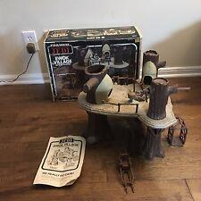 1983 Kenner-STAR WARS Return of the Jedi-COMPLETE EWOK VILLAGE PLAYSET With Box