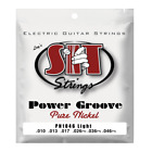 S.I.T. Strings Power Groove Pure Nickel Electric Guitar Strings gauges 10-46 for sale