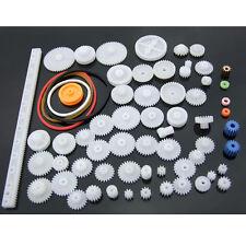 New 60kinds Plastic Gears Pulley Belt Shaft Robot Motor Gear Set Crown DIY Toy
