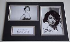 Sophia Loren Signed Autograph A4 photo display Hollywood Film AFTAL & COA