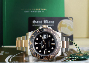 ROLEX - 18kt Rose Gold & SS GMT Master II 126711 CHNR ROOTBEER - SANT BLANC