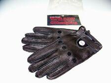WHEELSKINS  Men's Black Genuine Deerskin Leather Driving Gloves size small