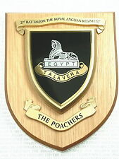 "2nd Bn ROYAL ANGLIAN REGIMENT ""THE POACHERS"" HAND MADE IN THE UK MESS PLAQUE"