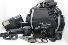 PENTAX AUTO 110 Reflex 8x11 KIT Obiettivo 18mm. 24mm. 50mm. Flash Winder Filtri