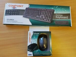 Compoint Keyboard (CP-K8014) and Mouse (CP-390) Bundle (Black)