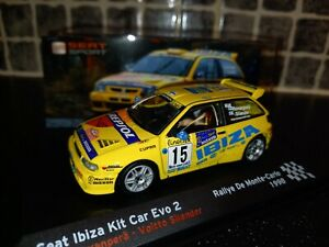 Seat Ibiza Kit Car Evo 2 Harri Rovanpera Monte Carlo Rally 98 1/43rd diecast WRC