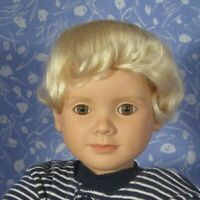 Middleton BEBE P. Blond Round Cap Doll Wig Size 13-15 100% MOHAIR, Baby, Unisex
