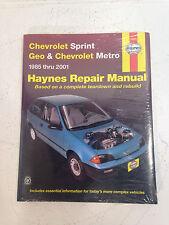 Haynes CHEVROLET SPRINT, GEO  CHEVROLET METRO 1985 thru 2001 Repair Manuel 24075