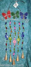 Butterfly Cast Iron Wind chime New 5 copper Mongolian Bells Glass bead 1lb 2.1oz