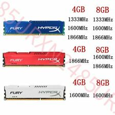 32GB 16GB 8GB 4GB DDR3 1333 1600 1866 1.5V DIMM Desktop RAM For HyperX FURY Lot