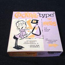 Vintage Cocktail Napkins Paper 1961 Bar Humor Funny Anne Leaf 18 plus Box